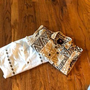 2 shirts!! 🌴🌴Quicksilver Aloha shirt